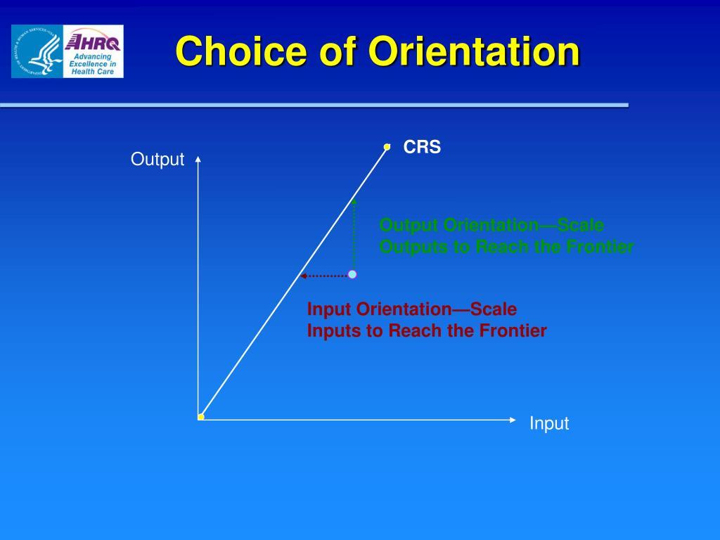 Choice of Orientation