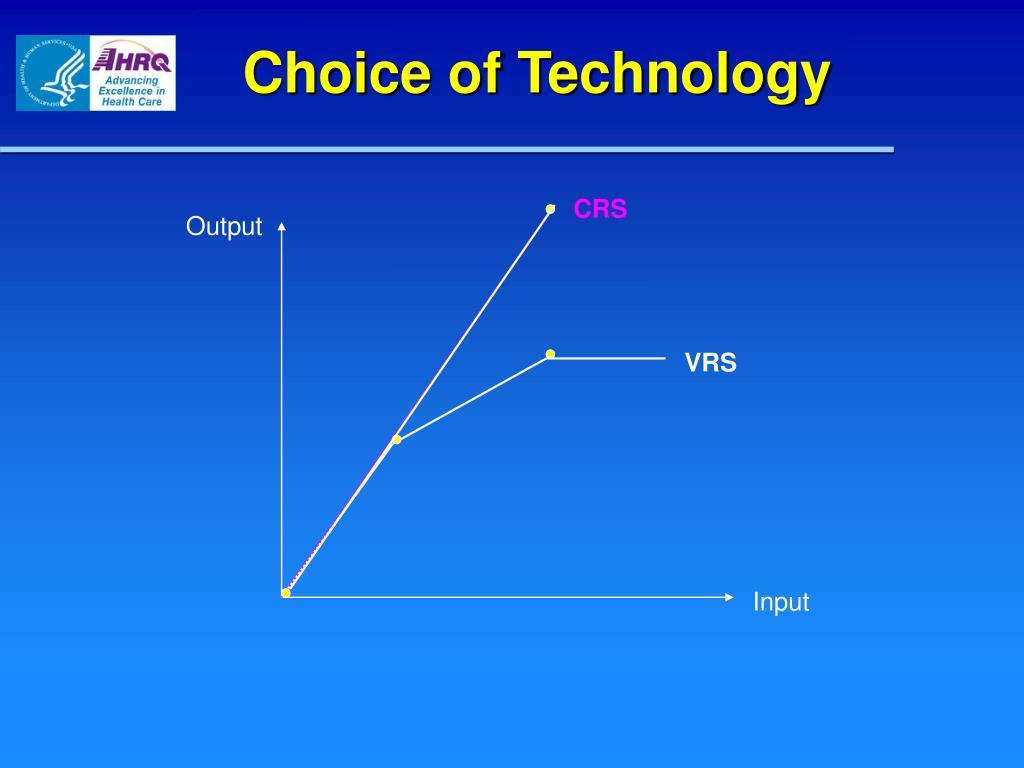 Choice of Technology