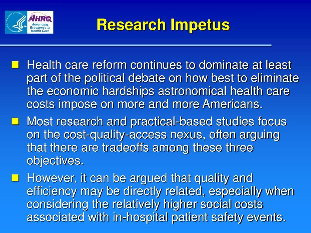 Research Impetus