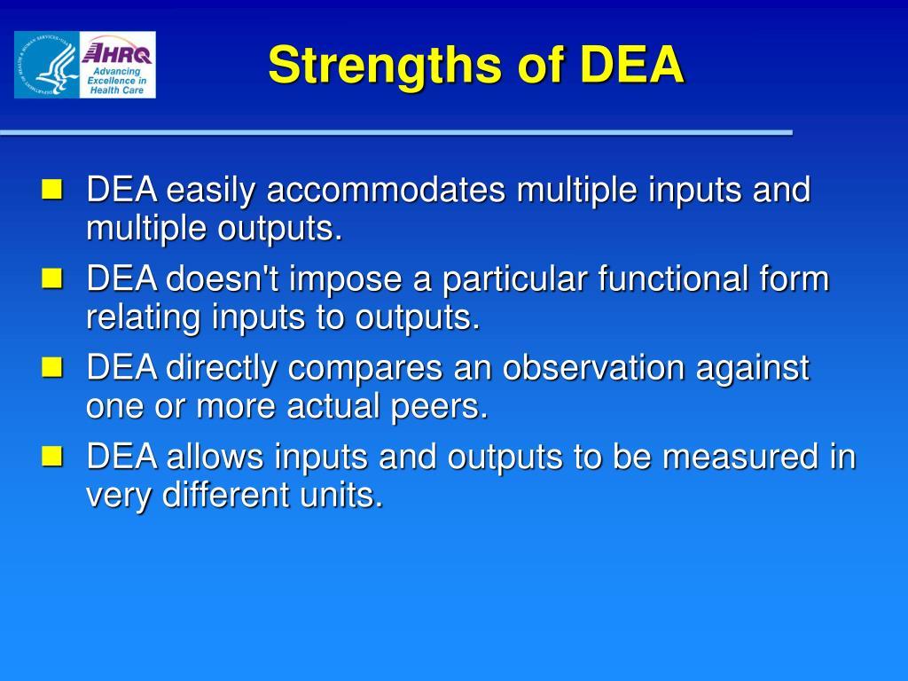 Strengths of DEA