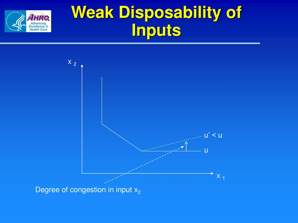 Weak Disposability of Inputs