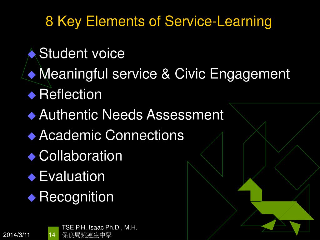 8 Key Elements of Service-Learning