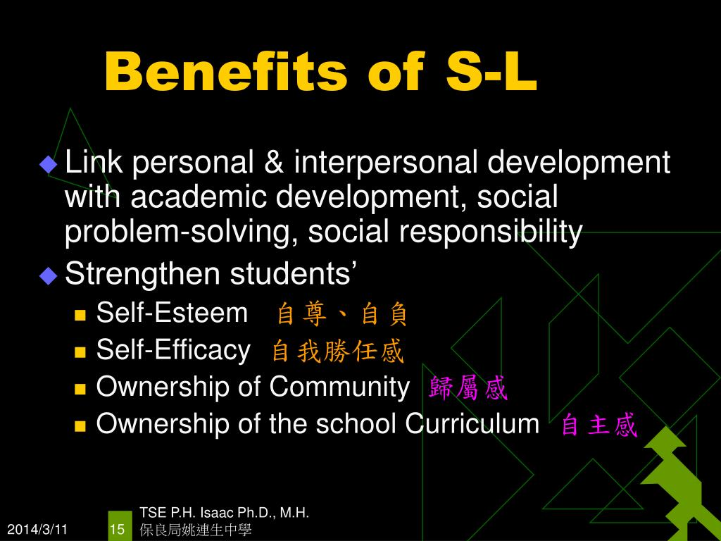 Benefits of S-L