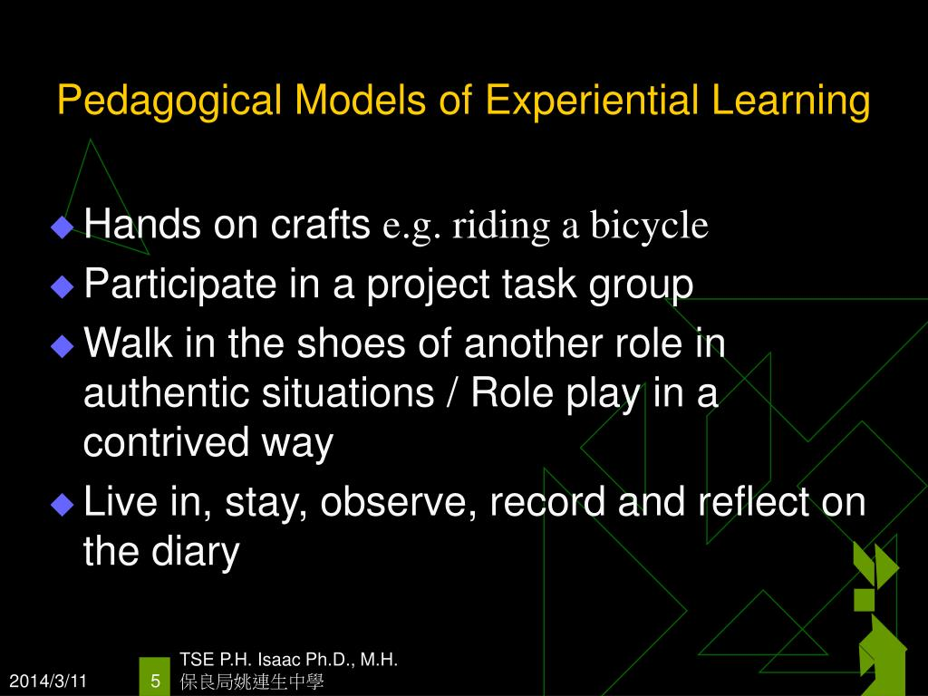 Pedagogical Models of Experiential Learning
