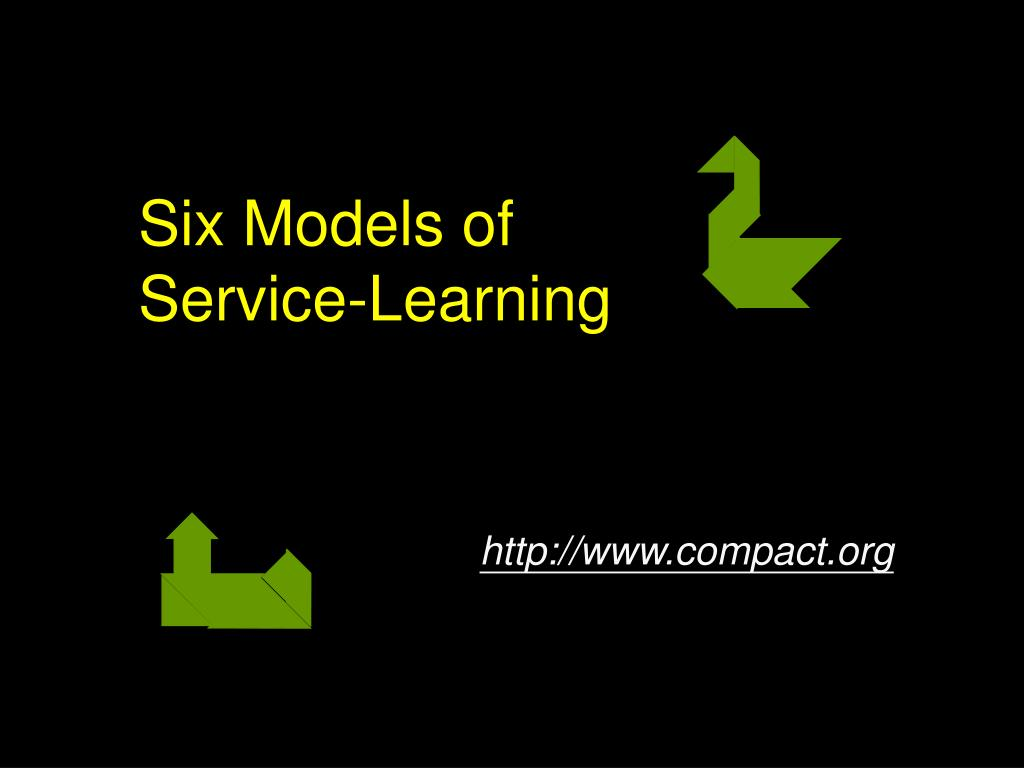 Six Models of Service-Learning