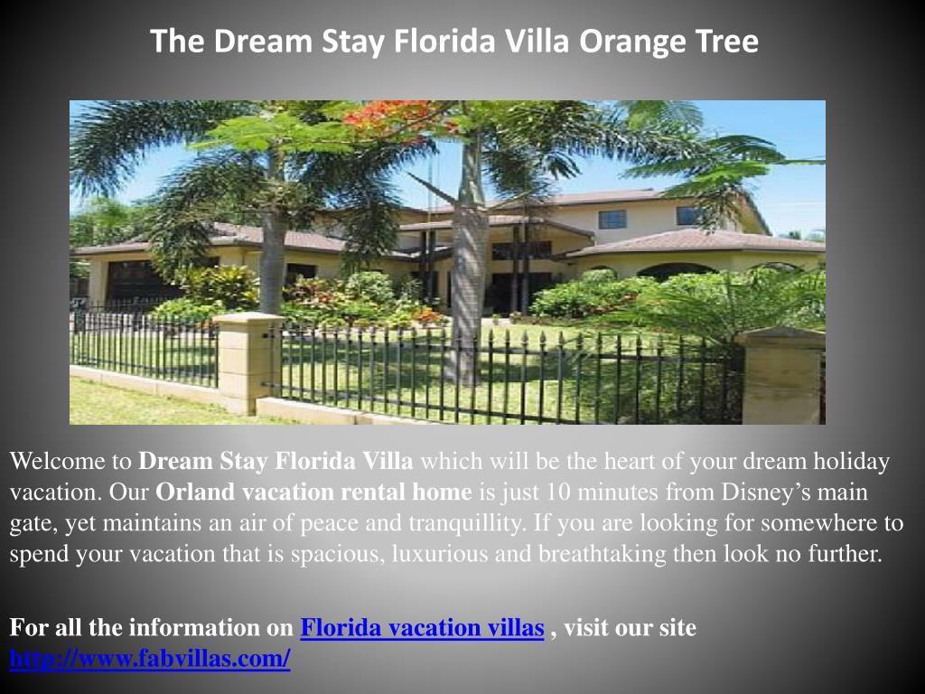 The Dream Stay Florida Villa