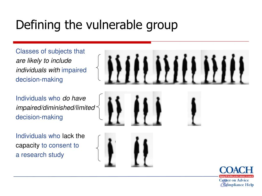 Defining the vulnerable group