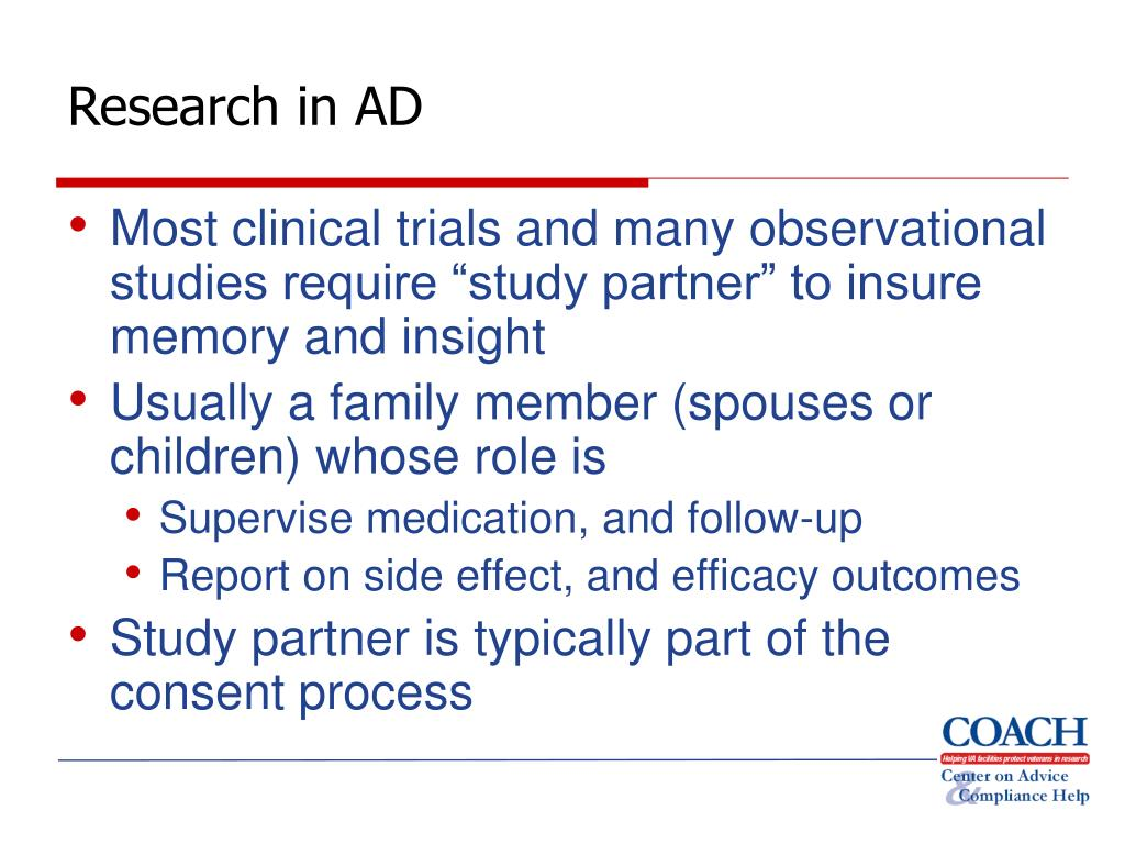Research in AD
