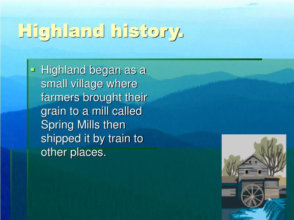 Highland history.
