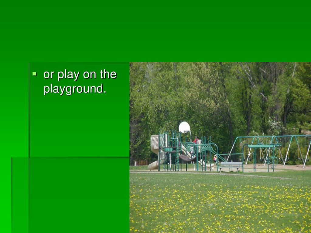 or play on the playground.