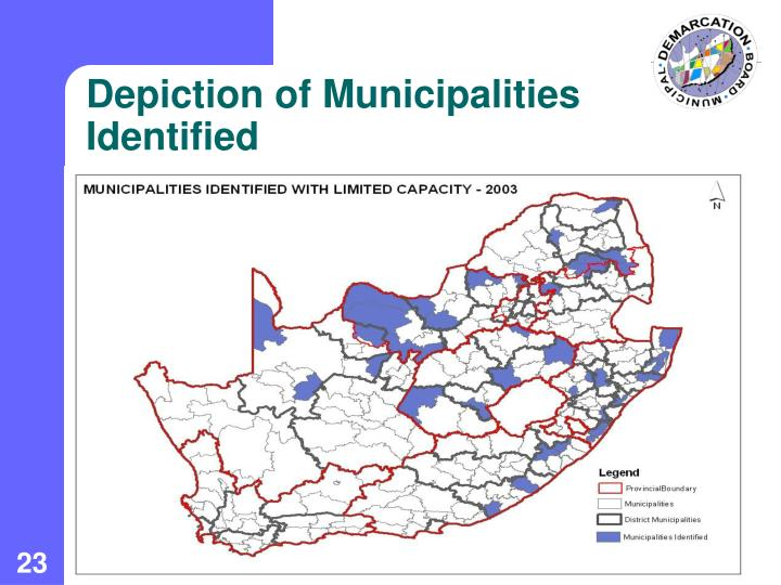 Depiction of Municipalities Identified