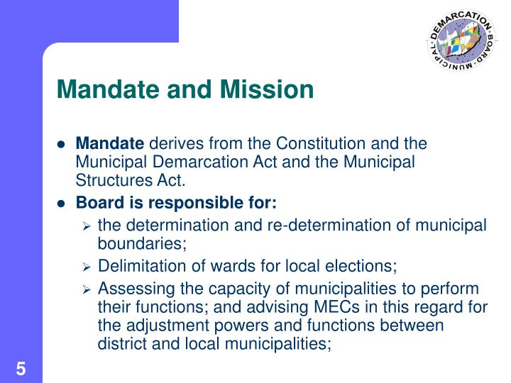 Mandate and Mission