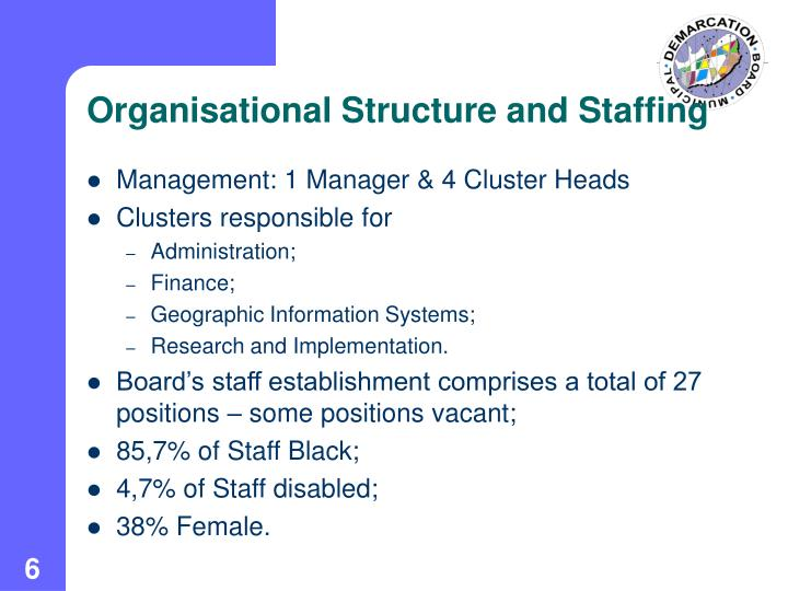 Organisational Structure and Staffing