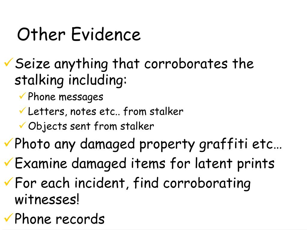Other Evidence