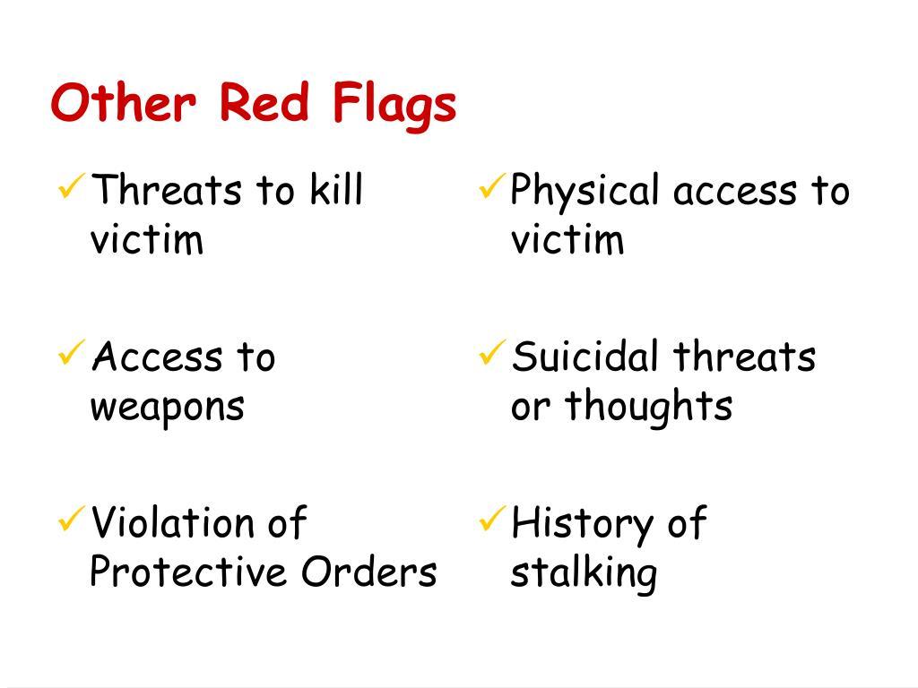 Threats to kill victim