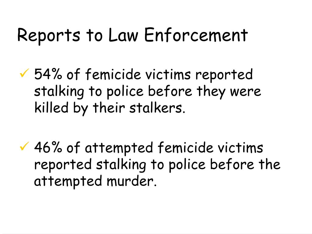 Reports to Law Enforcement