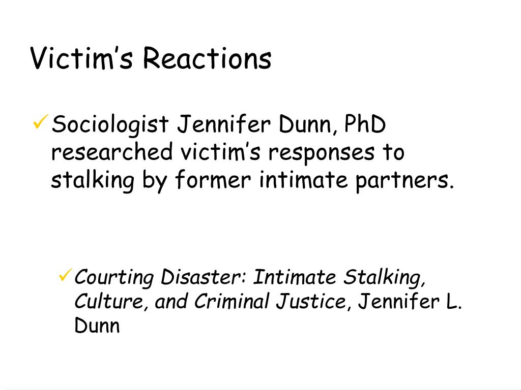 Victim's Reactions