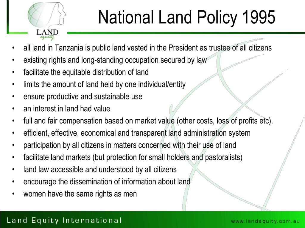 National Land Policy 1995