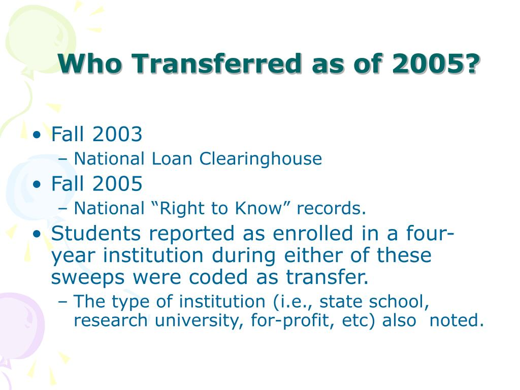 Who Transferred as of 2005?