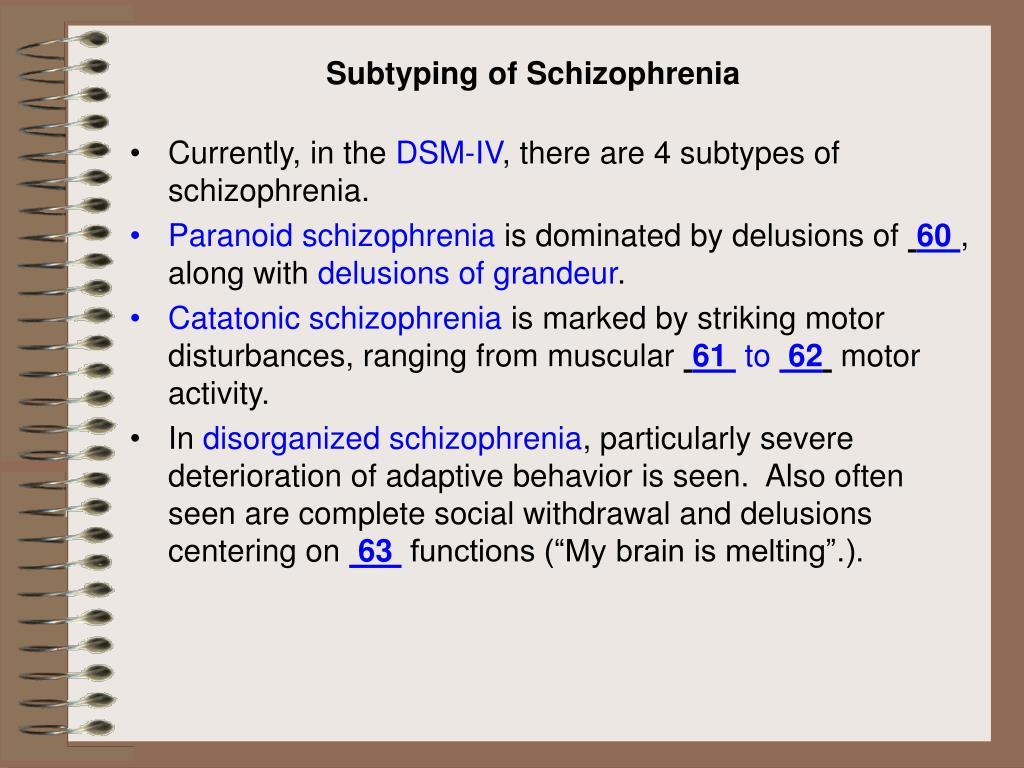 Subtyping of Schizophrenia