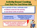 activity based costing cost rate per cost driver unit32
