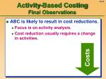 activity based costing final observations54