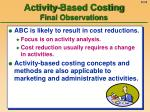 activity based costing final observations55