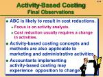 activity based costing final observations56