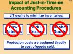 impact of just in time on accounting procedures