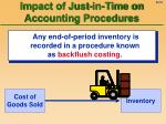impact of just in time on accounting procedures21