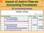 impact of just in time on accounting procedures22