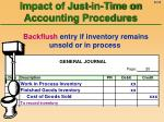 impact of just in time on accounting procedures23