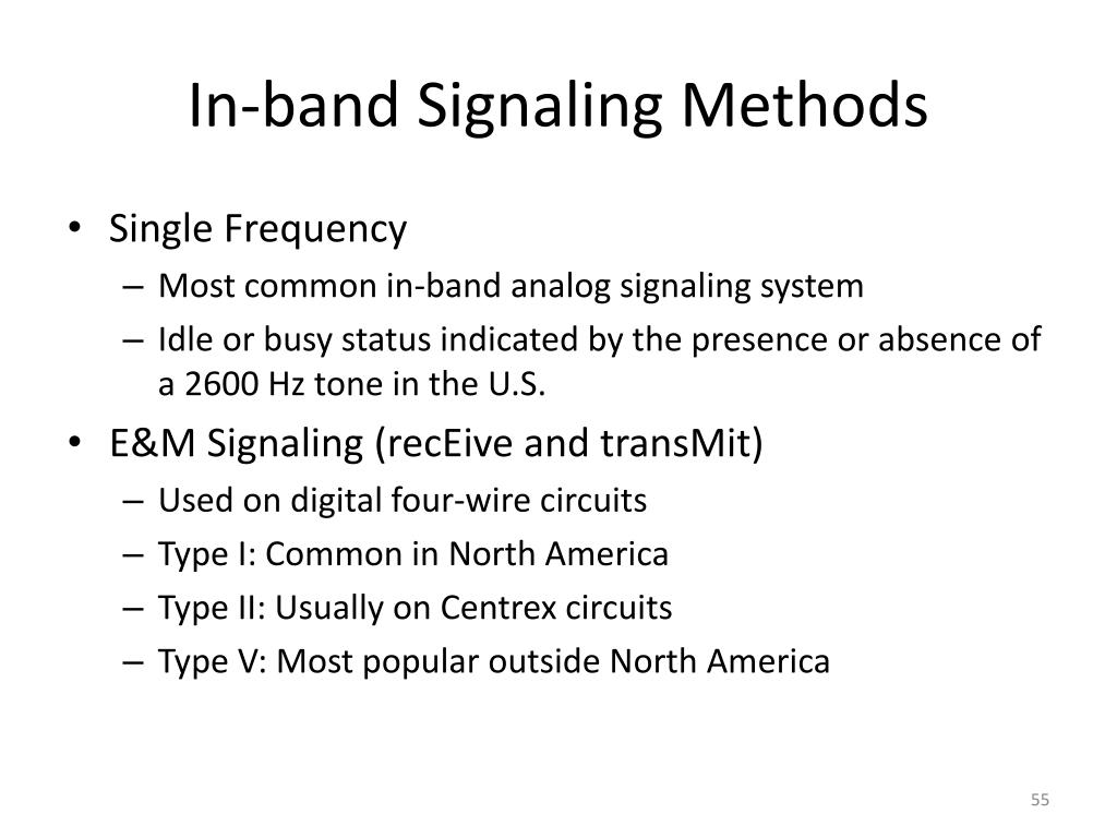 In-band Signaling Methods