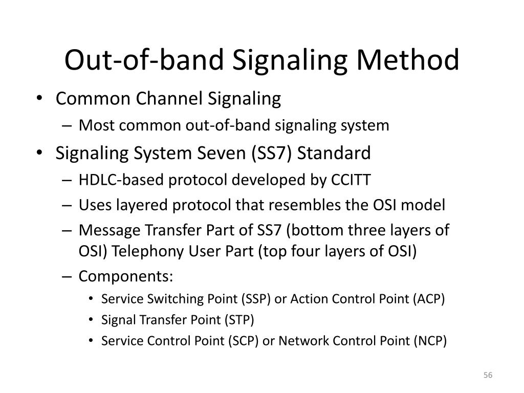 Out-of-band Signaling Method