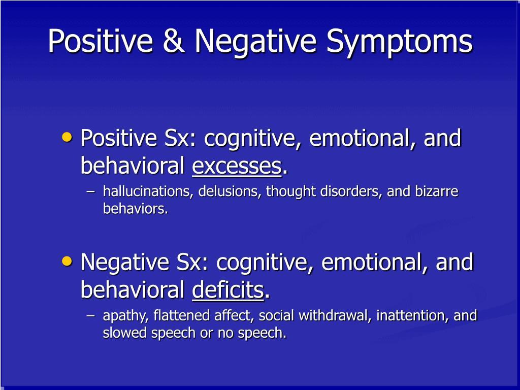 Positive & Negative Symptoms