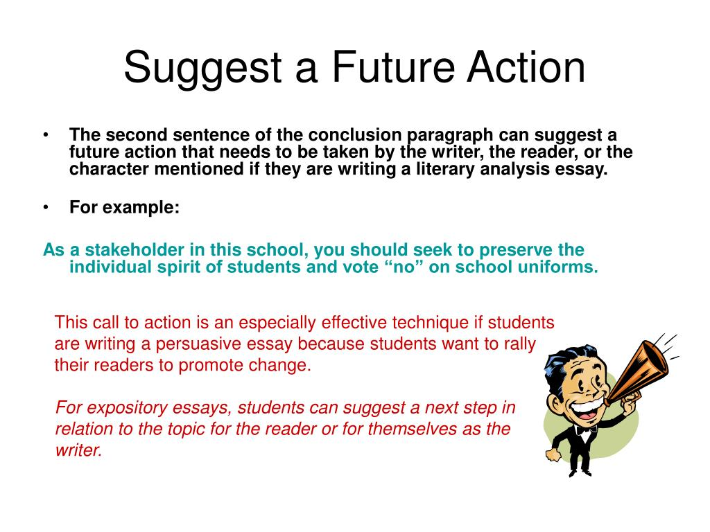persuasive essay conclusion paragraph Conclusion ts to conclude, it is clear now that (thesis strong/emotional) conclusion cd we have proven that.
