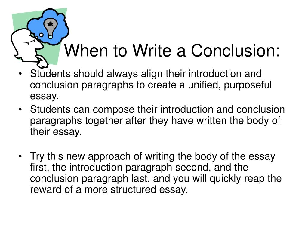 how to write a conclusion Sample concluding paragraph for response to literature essay conclusion: the search for what makes a life meaningful will continue to haunt mankind.