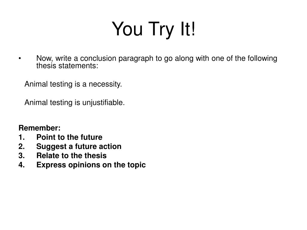 ppt how to write a concluding paragraph powerpoint presentation you try it