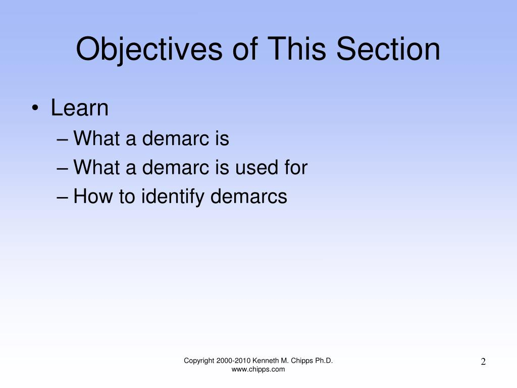 Objectives of This Section