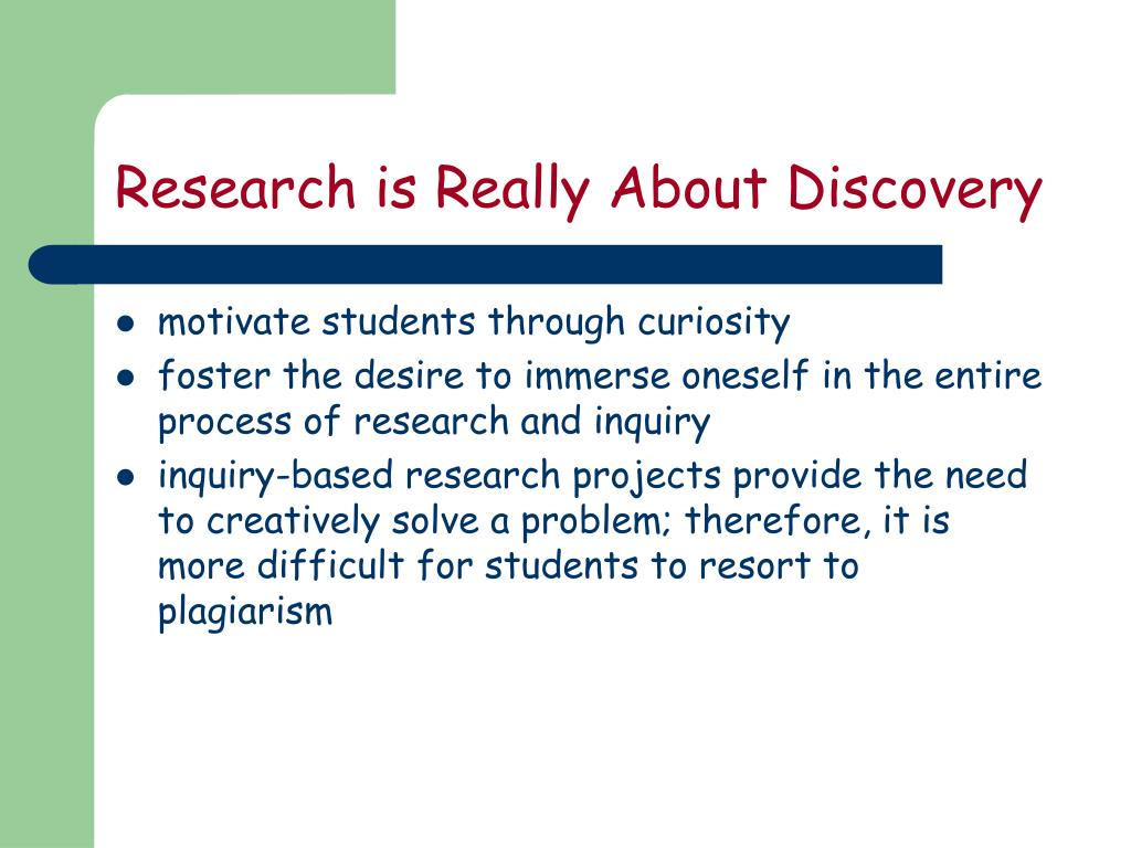 Research is Really About Discovery