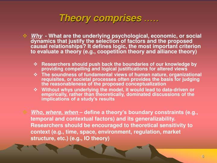 Theory comprises