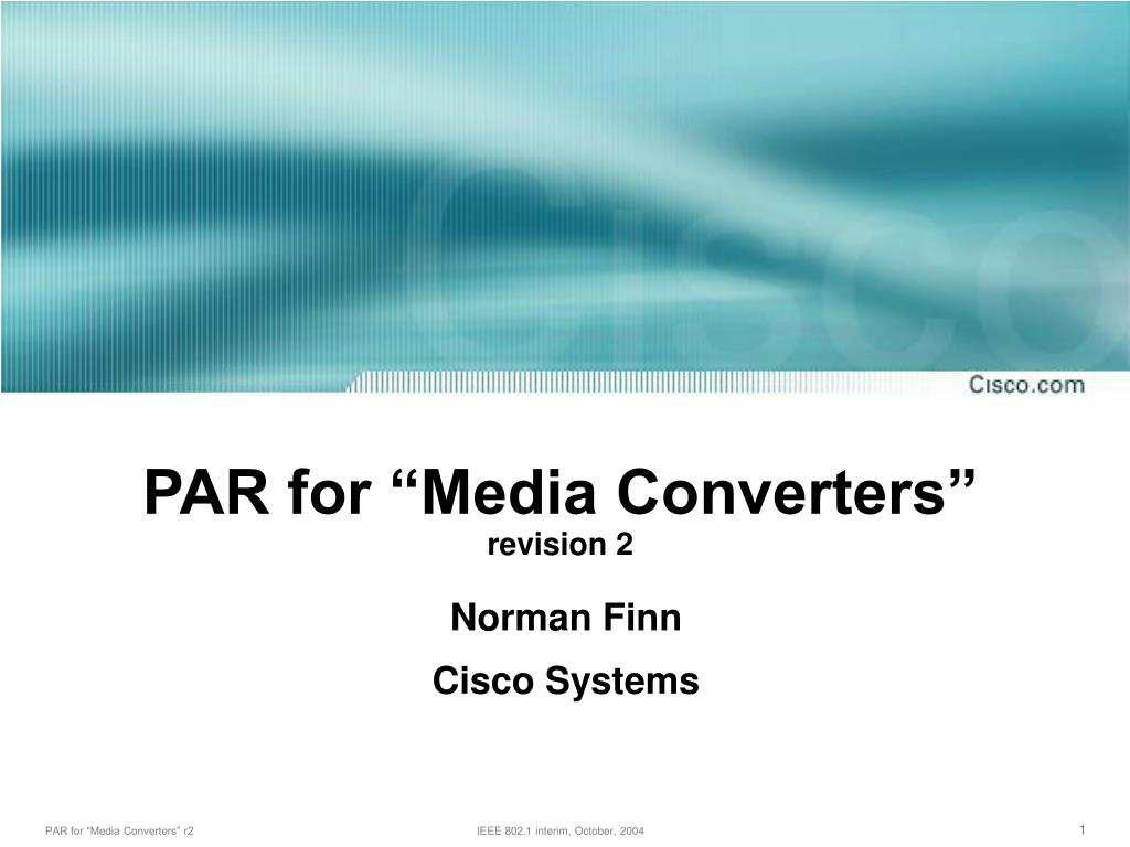 "PAR for ""Media Converters"""