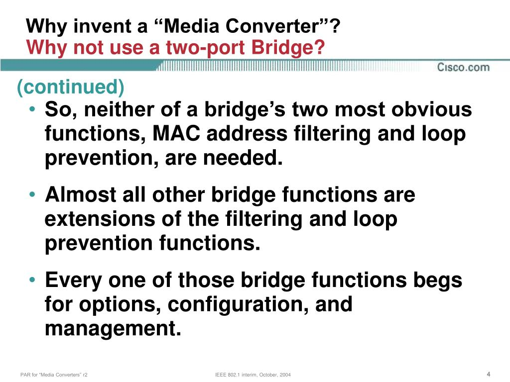 """Why invent a """"Media Converter""""?"""