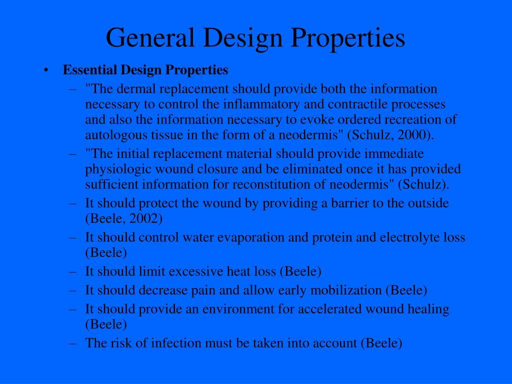 General Design Properties