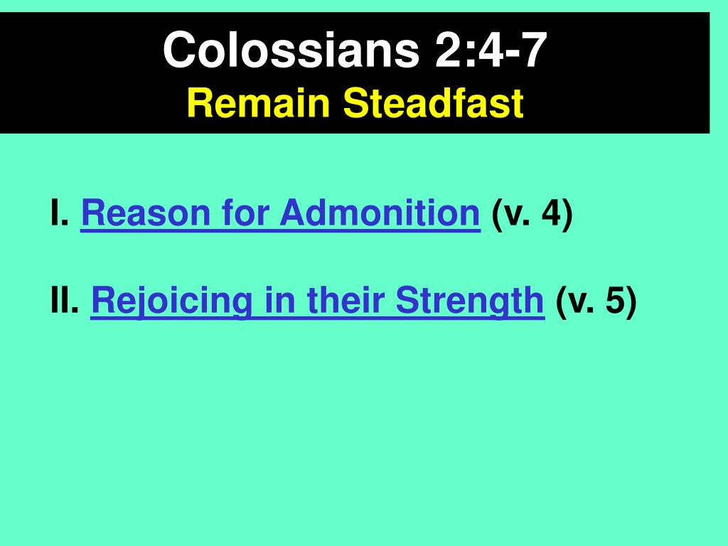 Colossians 2:4-7