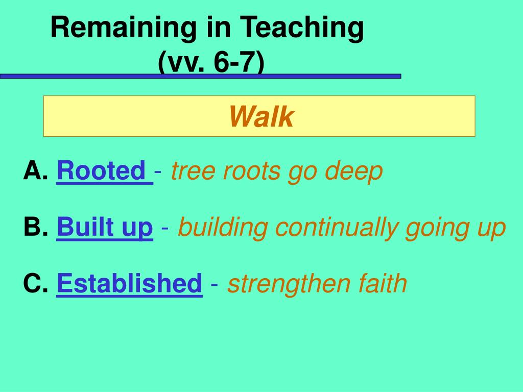 Remaining in Teaching