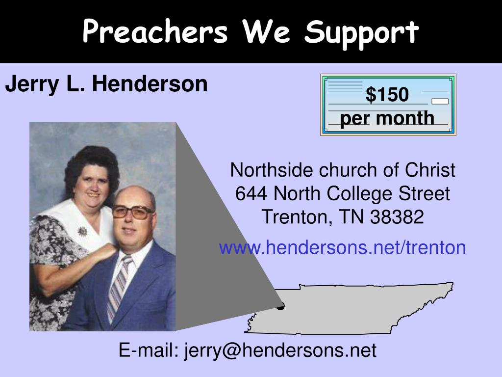 Preachers We Support