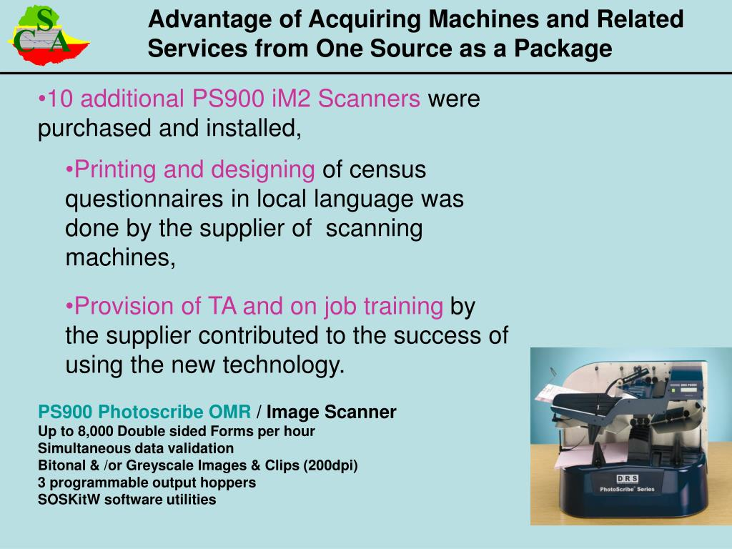 Advantage of Acquiring Machines and Related Services from One Source as a Package