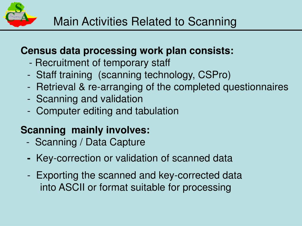 Main Activities Related to Scanning