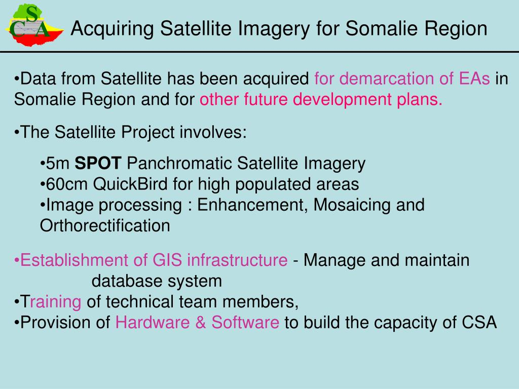 Acquiring Satellite Imagery for Somalie Region